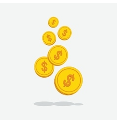 gold money over gray vector image