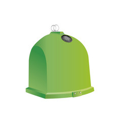 Green recycling container for glass isolated vector