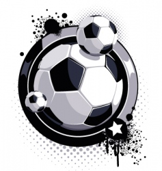 grunge soccer ball design vector image