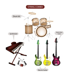Music Equipment set vector image vector image