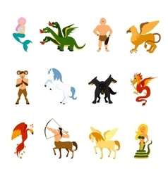 Mythical Creature Images Set vector image