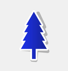 new year tree sign new year bluish icon vector image vector image