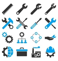 Options And Service Tools Icon Set vector image