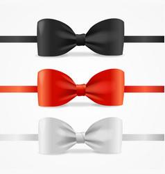 realistic 3d bow tie set vector image