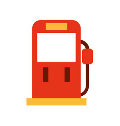 red gasoline fuel pump filling station equipment vector image