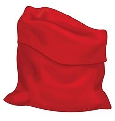 red santa bag vector image vector image