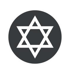 Round star of david icon vector