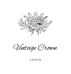 royal crown logo template vector image