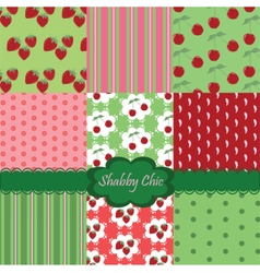 Shabby chic set of colorful fabrics vector