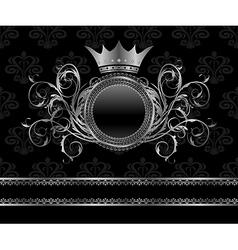 silver vintage frame vector image