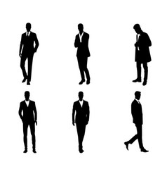 six businessmen set vector image
