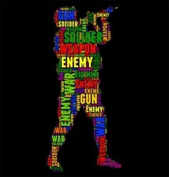 soliders Typography word cloud colorful vector image