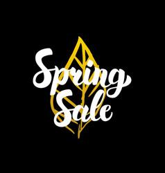 Spring sale handwritten calligraphy vector