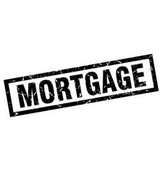 square grunge black mortgage stamp vector image vector image