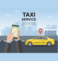 taxi service concept web page vector image