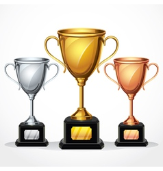 Trophy Cup Set vector image