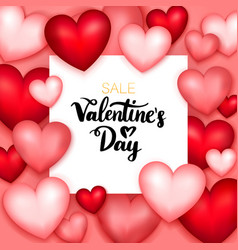 Valentines day sale paper vector