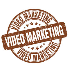 Video marketing brown grunge stamp vector