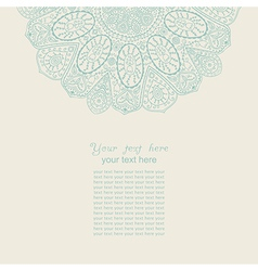 Vintage invitation card template frame design for vector
