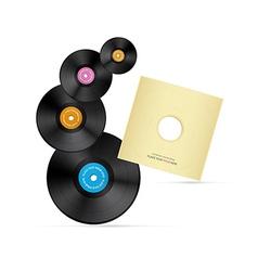Vinyl record discs vector