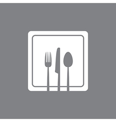 white square plate vector image