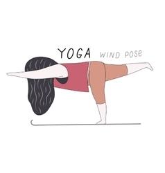 Yoga wind pose vector image