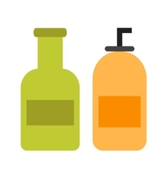 Cream bottles vector