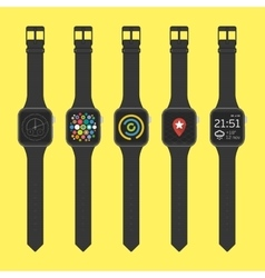 Smart watches icon set vector