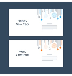New Year Christmas card template Xmas minimalistic vector image