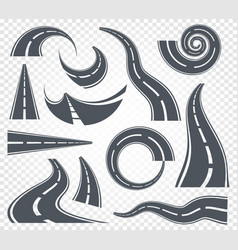 Isolated grey color road or highway with dividing vector