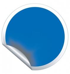 blue sticker vector image