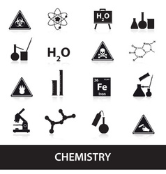 Chemistry icons set eps10 vector