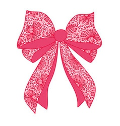 Decorative lacy bow vector