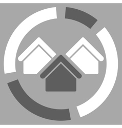Realty diagram icon from business bicolor set vector