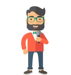 Broadcaster with microphone vector