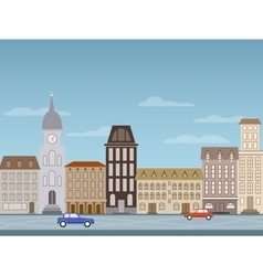 Image of a city street vector