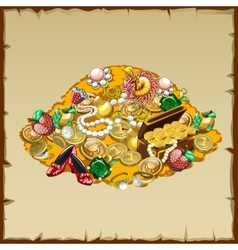 Treasures and other riches of the mountain vector image
