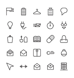 Web and user interface outline icons 12 vector