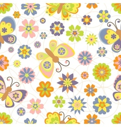 Cute seamless pattern with spring vector