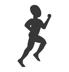 Silhouette of person running vector