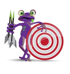 Darts playing frog vector