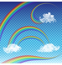 Rainbows collection vector