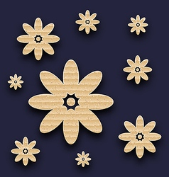Abstract paper flowers background carton texture vector
