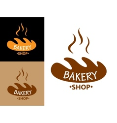 Bakery food symbol with bread vector image vector image