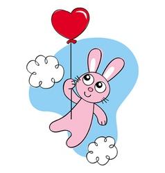 balloon bunny vector image
