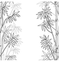 Bamboo seamless vertical border vector