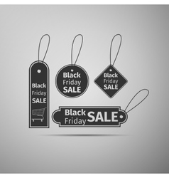 Black Friday sales tag flat icon on grey vector image