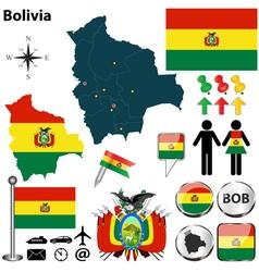 Bolivia map vector image vector image