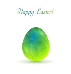Bright polygonal easter egg background vector
