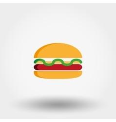 Burger icon Flat vector image vector image